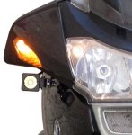 Universal Denali Auxiliary Light Mounting Kit for BMW R1200RT, '05-'13