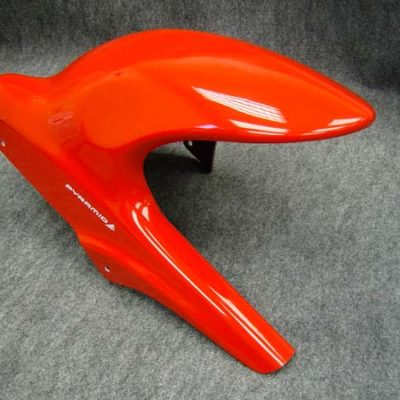 Pyramid Suzuki GSF650F BANDIT Hugger 2005 - 2008: RED FOR BLACK SWINGARM - 070022D