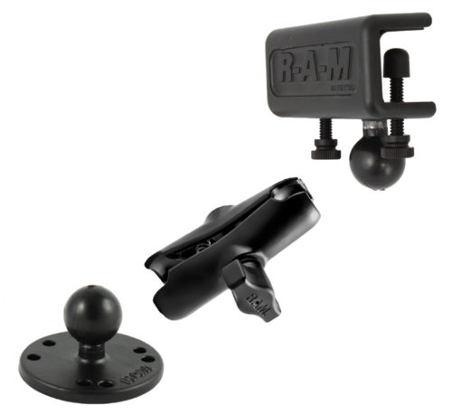 RAM-B-127-202-KT Window or Flat Surface Clamp Mount, Arm and Round Base Adapter