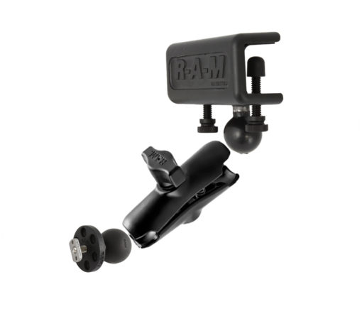 RAM-B-127-375-KT Flat Surface Mount with Double Socket Arm and T-Slot Ball
