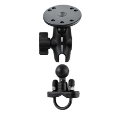 """RAM-B-149ZA-202-KT U-Bolt Mount with Short 1"""" Ball Arm and Round Base Adapter"""