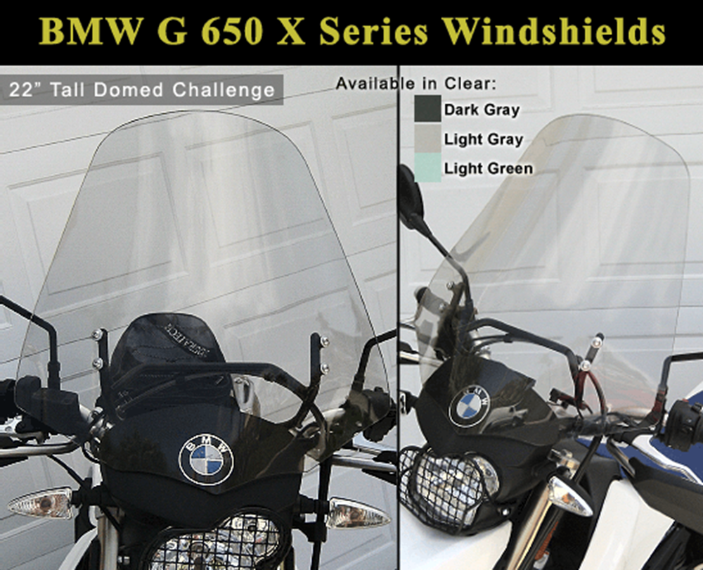 Bmw G 650 X Challenge And Country Windshields With Bracket Sportouring